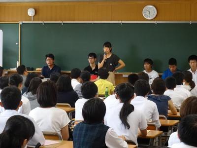 生徒による学校生活紹介